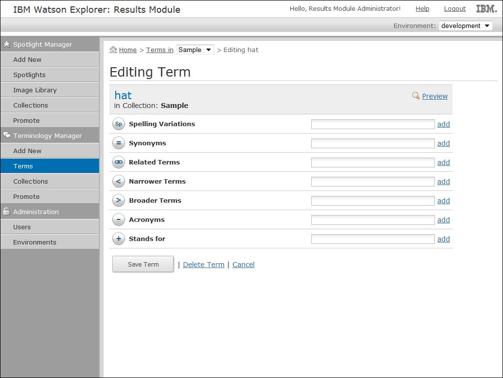 IBM Watson Explorer Results Module