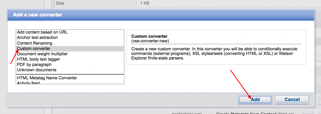 watson explorer add custom converter
