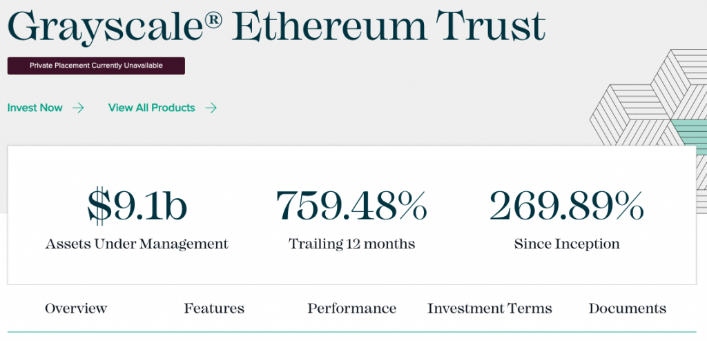 Grayscale Ethereum Trust